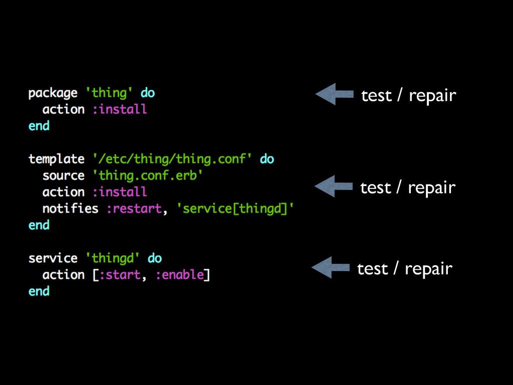 test / repair test / repair test / repair