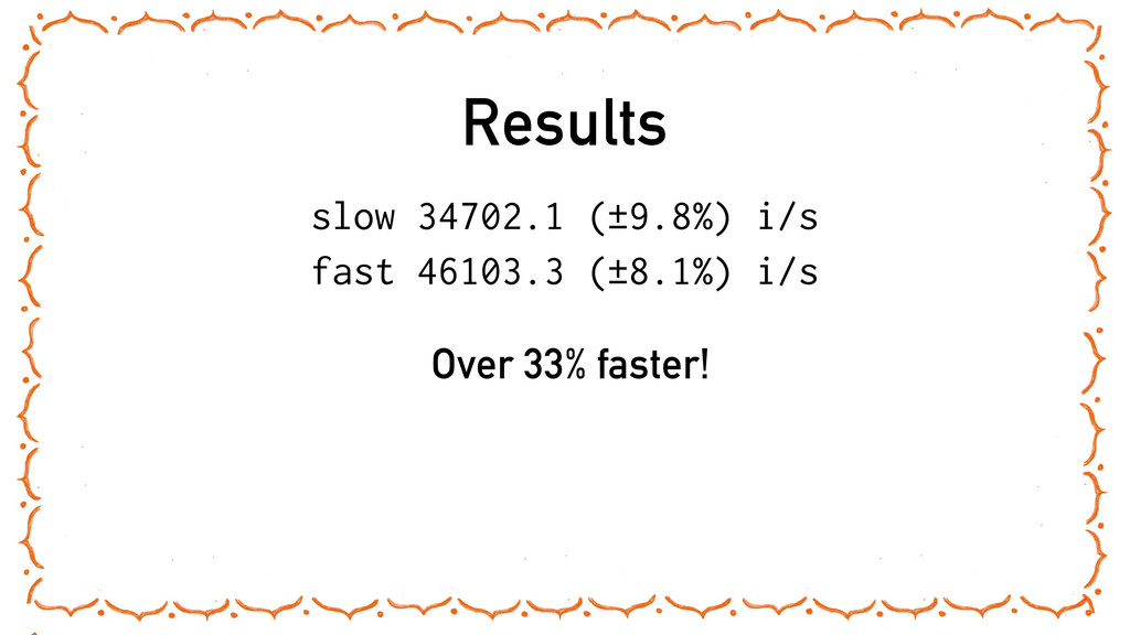 Results slow 34702.1 (±9.8%) i/s fast 46103.3 (...