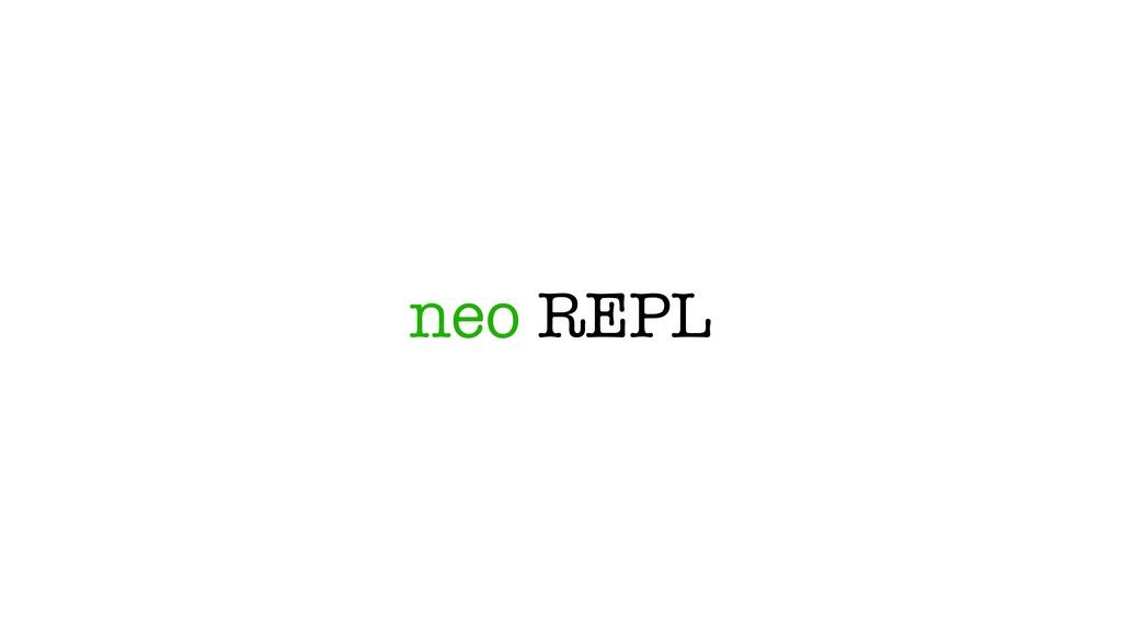 neo REPL
