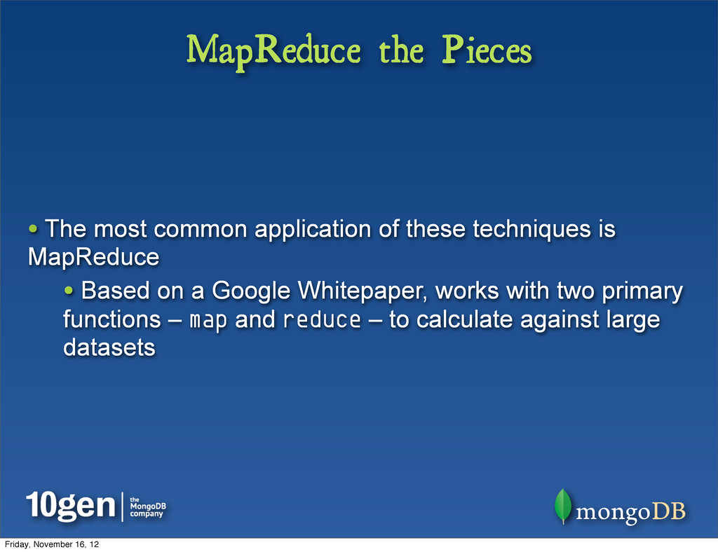 MapReduce the Pieces • The most common applicat...