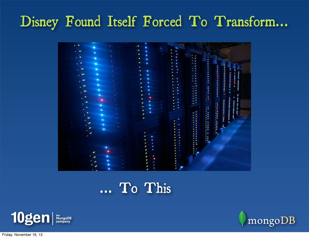 Disney Found Itself Forced To Transform... ... ...