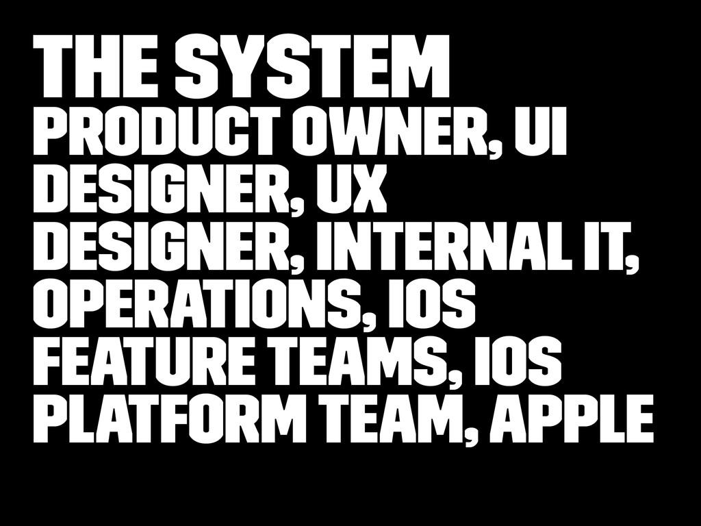 The system Product Owner, UI Designer, UX Desig...