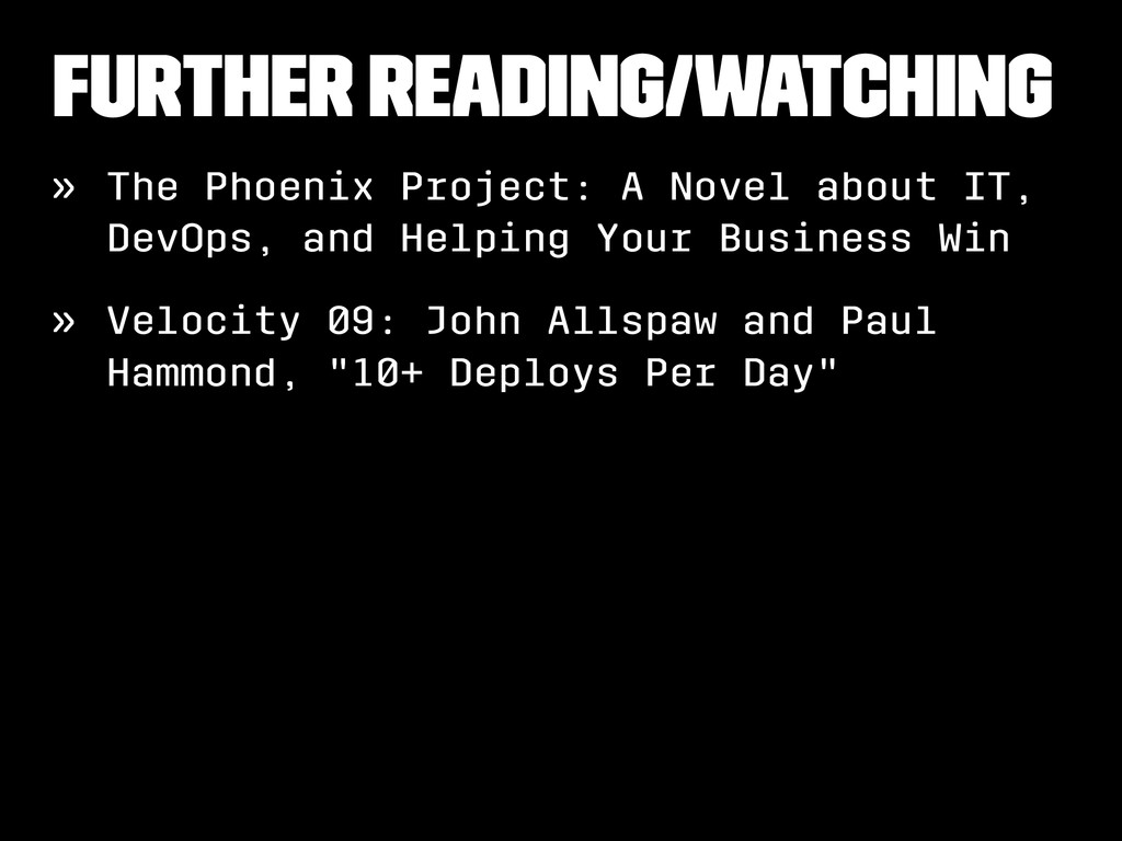 Further reading/watching » The Phoenix Project:...