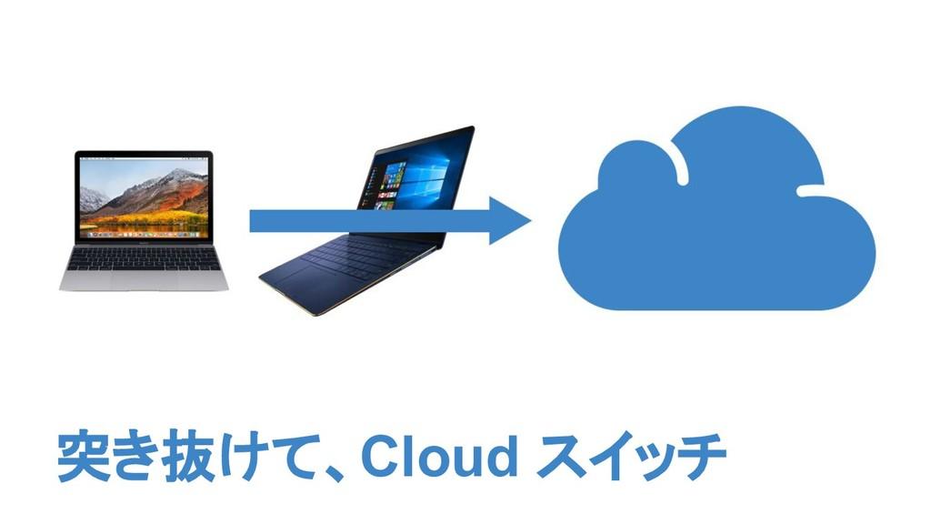突き抜けて、Cloud スイッチ