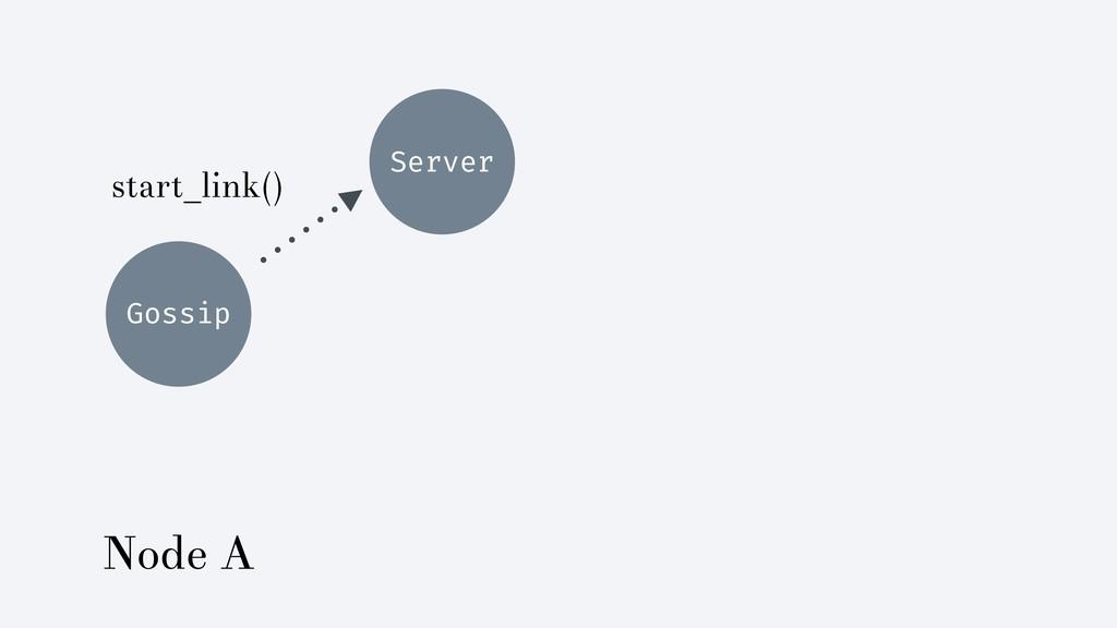 Gossip Server start_link() Node A