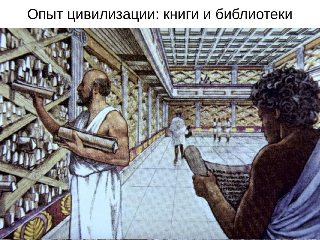Опыт цивилизации: книги и библиотеки