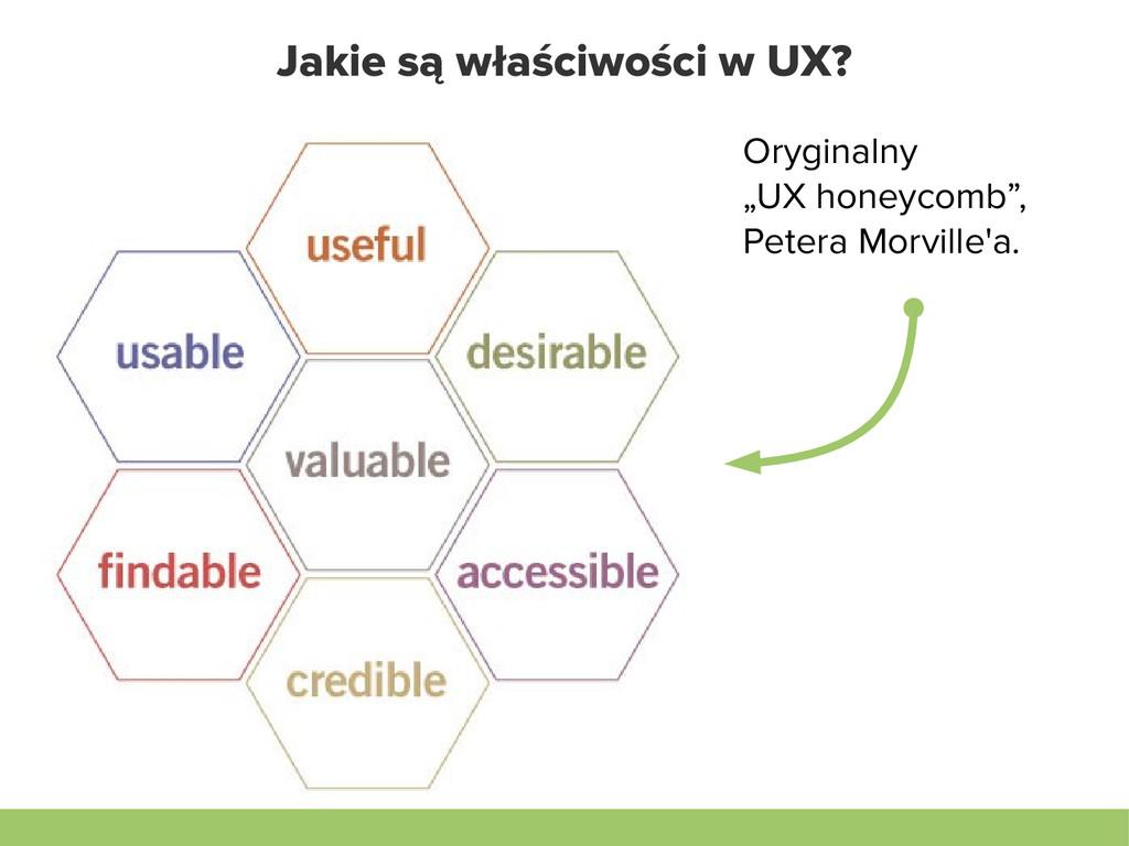 """Jakie są właściwości w UX? Oryginalny """"UX honey..."""