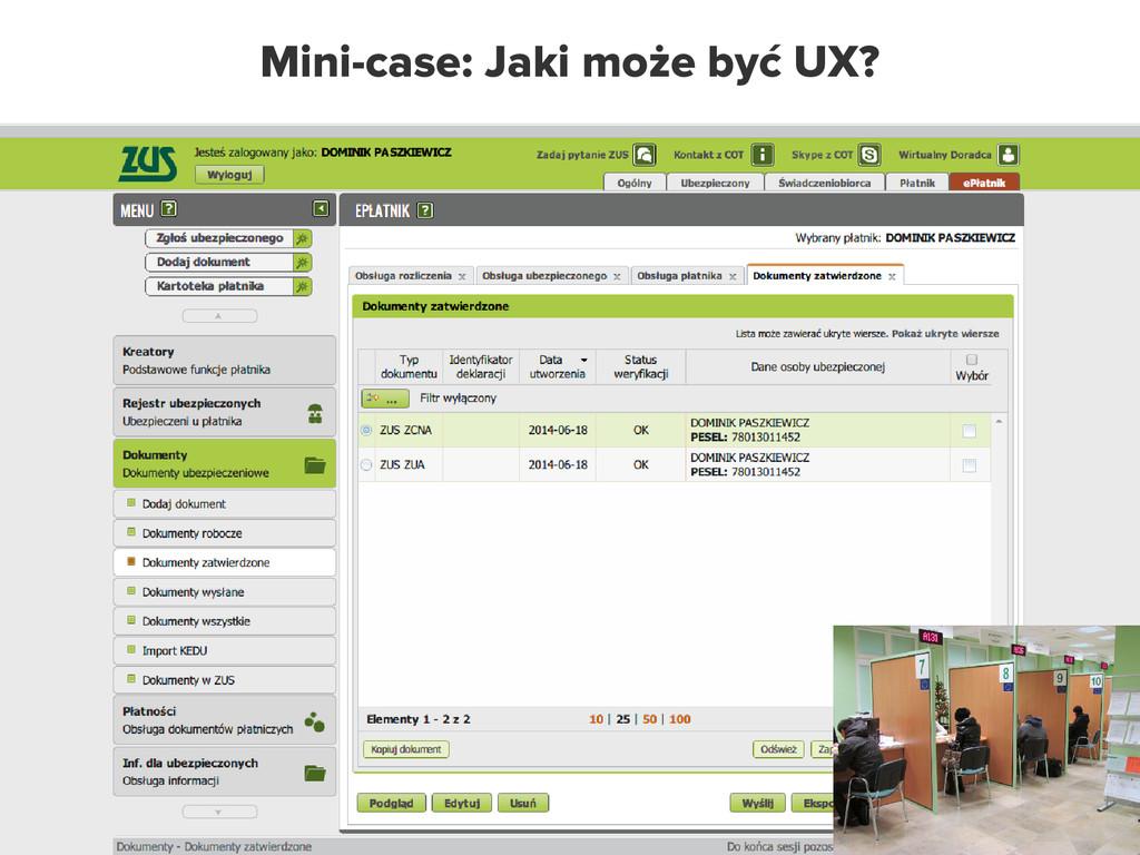 Mini-case: Jaki może być UX?