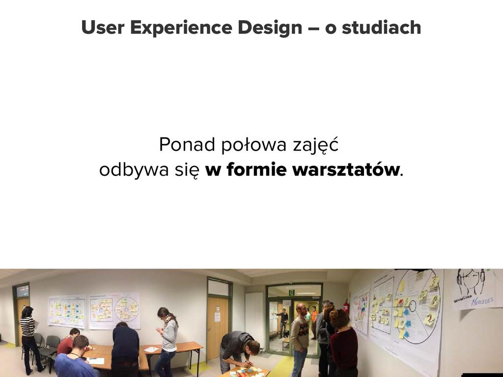 User Experience Design – o studiach Ponad połow...