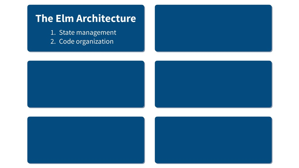 The Elm Architecture 1. State management 2. Cod...