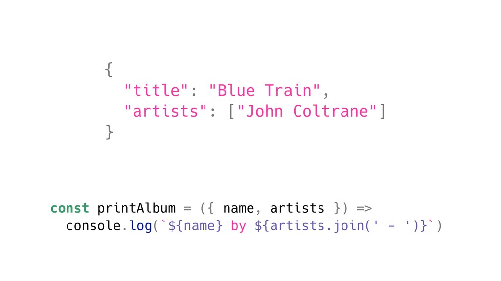 "{ ""title"": ""Blue Train"", ""artists"": [""John Colt..."