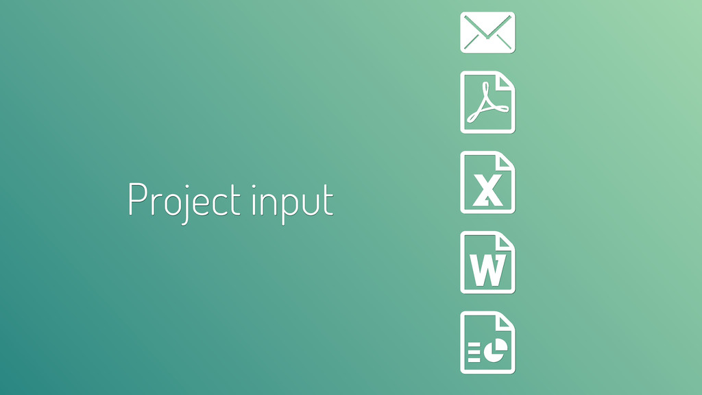 Project input