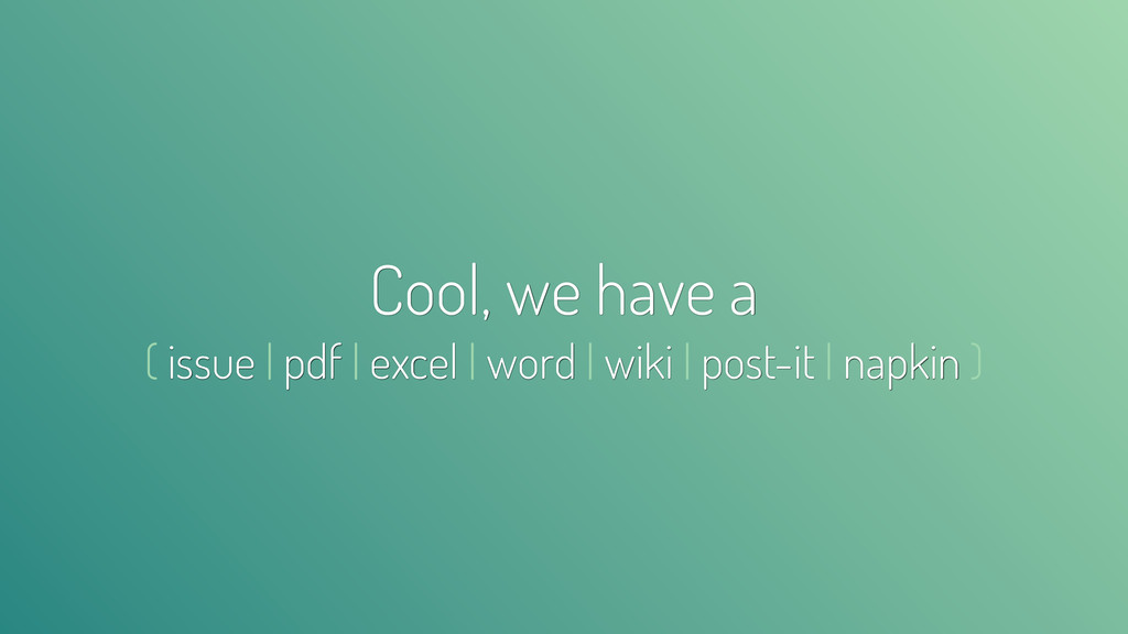 Cool, we have a ( issue | pdf | excel | word | ...