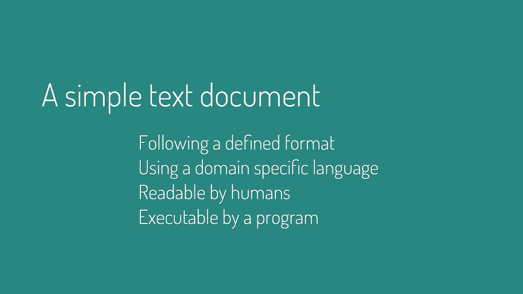 A simple text document Following a defined forma...