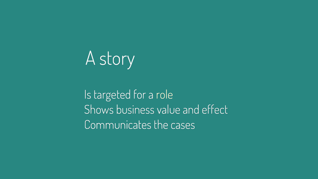 A story Is targeted for a role Shows business v...