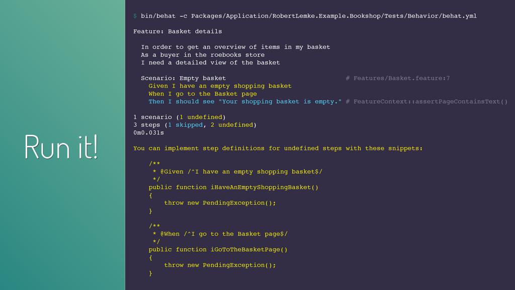 $ bin/behat -c Packages/Application/RobertLemke...
