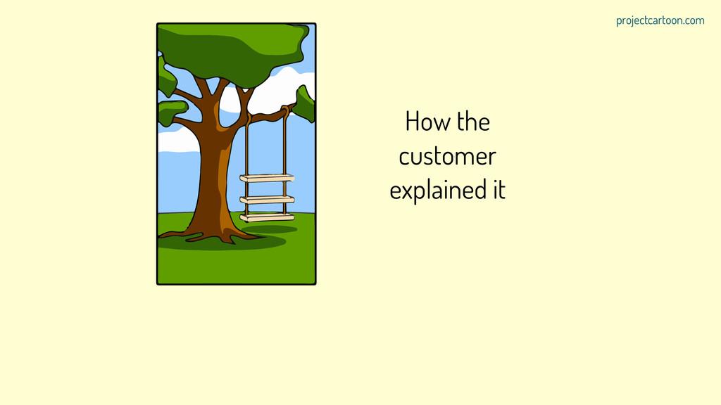 How the customer explained it projectcartoon.com