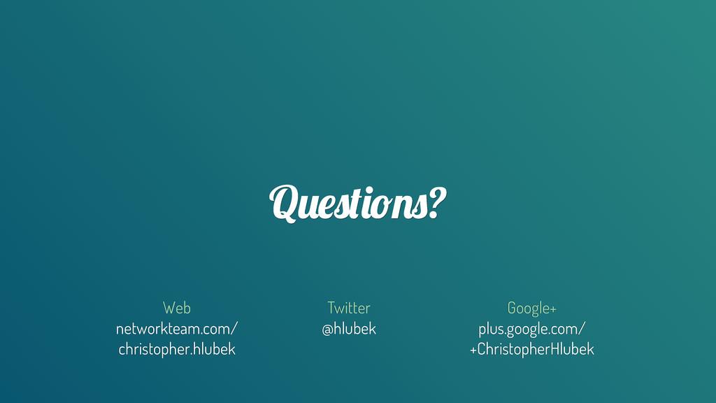 Q(!)$%*&)? Twitter @hlubek Google+ plus.google....