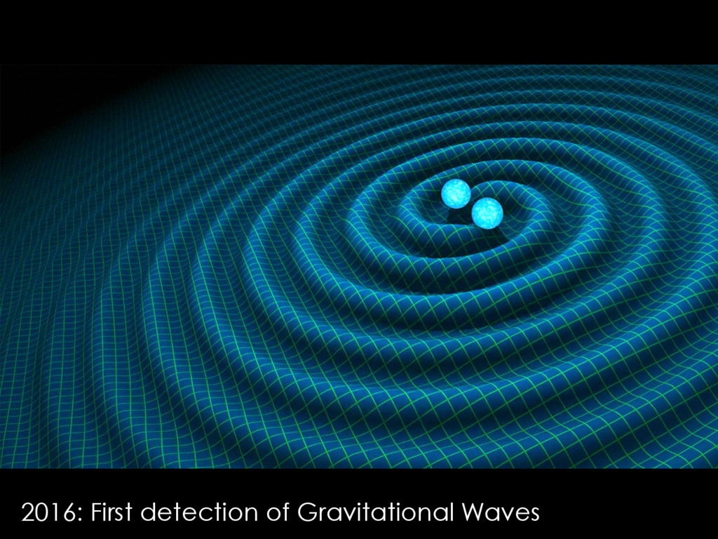 2016: First detection of Gravitational Waves