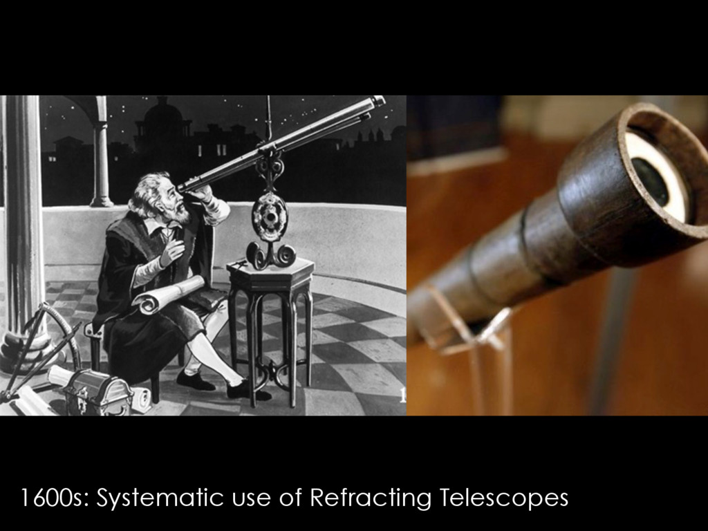 1600s: Systematic use of Refracting Telescopes
