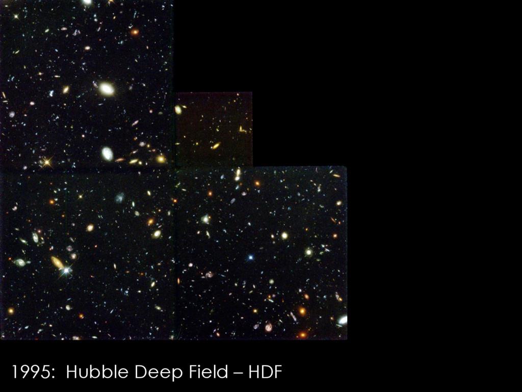 1995: Hubble Deep Field – HDF