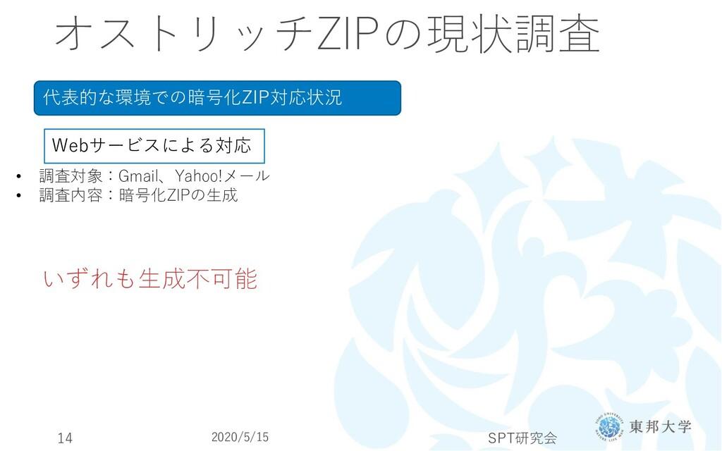 オストリッチZIPの現状調査 代表的な環境での暗号化ZIP対応状況 Webサービスによる対応 ...