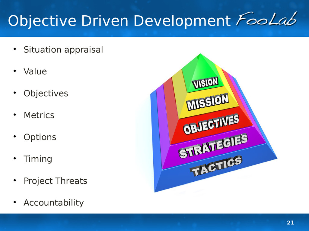 21 Objective Driven Development  Situation app...