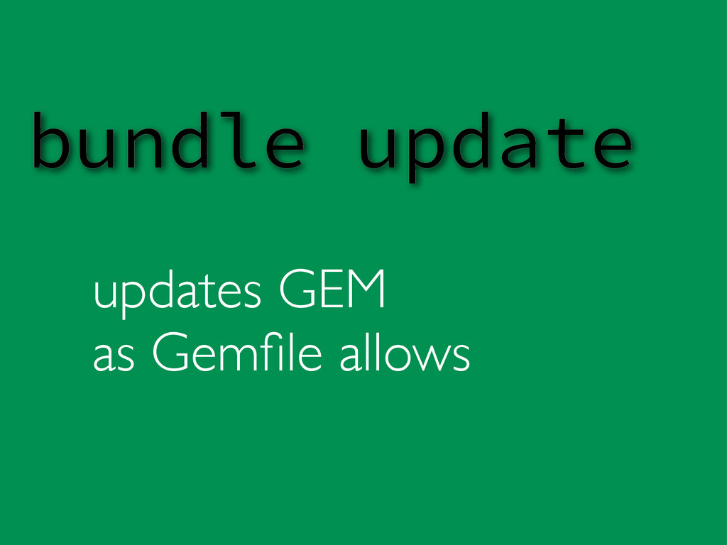 updates GEM as Gemfile allows bundle update