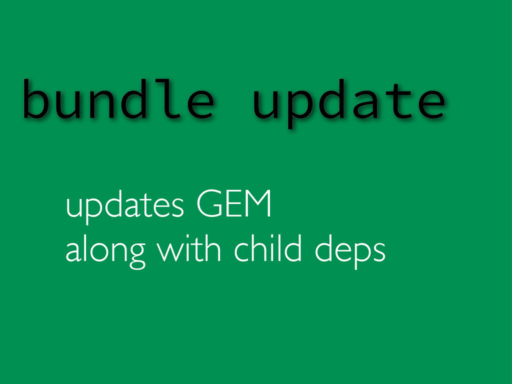 updates GEM along with child deps bundle update