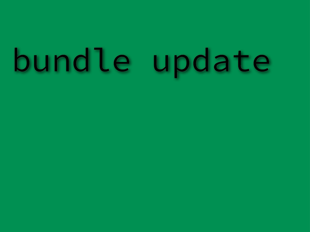 bundle update