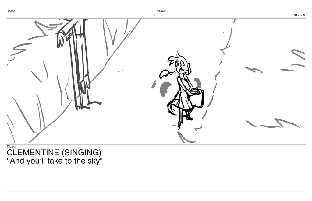 Scene 1 Panel 191 / 689 Dialog CLEMENTINE (SING...