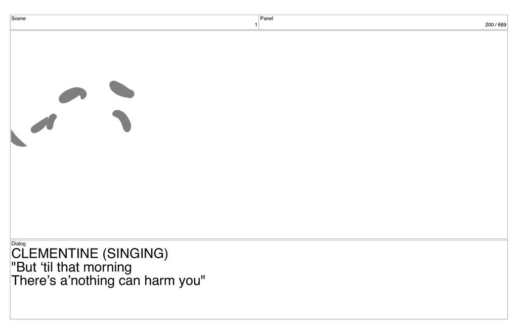 Scene 1 Panel 200 / 689 Dialog CLEMENTINE (SING...