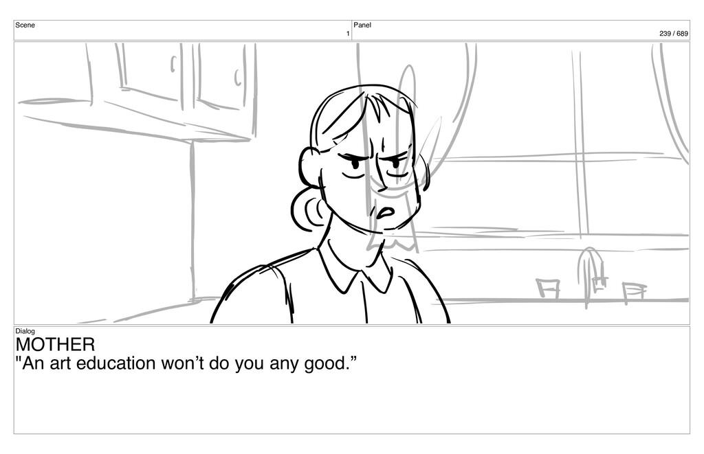 """Scene 1 Panel 239 / 689 Dialog MOTHER """"An art e..."""
