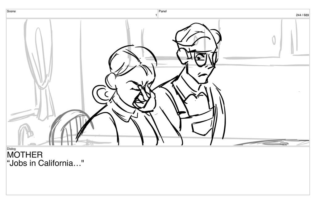 "Scene 1 Panel 244 / 689 Dialog MOTHER ""Jobs in ..."