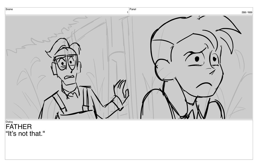 """Scene 1 Panel 288 / 689 Dialog FATHER """"It's not..."""