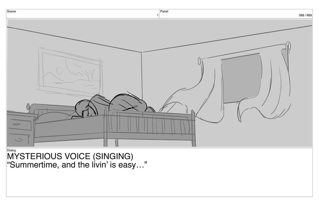 Scene 1 Panel 398 / 689 Dialog MYSTERIOUS VOICE...