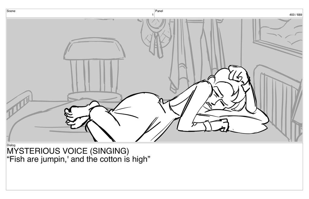 Scene 1 Panel 403 / 689 Dialog MYSTERIOUS VOICE...