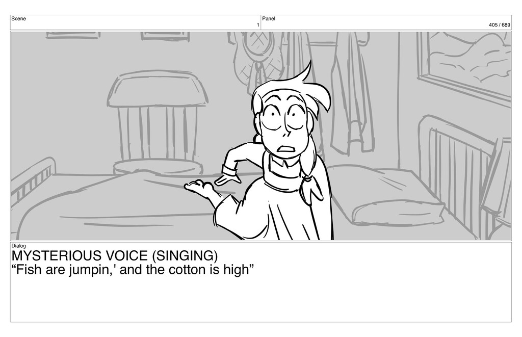 Scene 1 Panel 405 / 689 Dialog MYSTERIOUS VOICE...