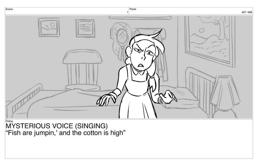 Scene 1 Panel 407 / 689 Dialog MYSTERIOUS VOICE...