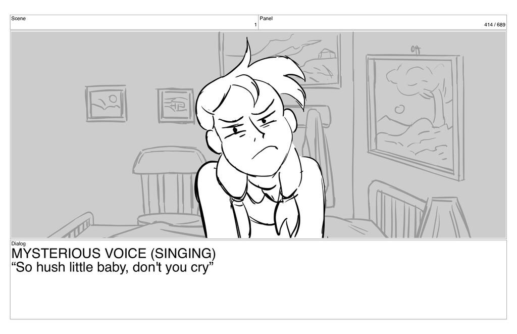 Scene 1 Panel 414 / 689 Dialog MYSTERIOUS VOICE...