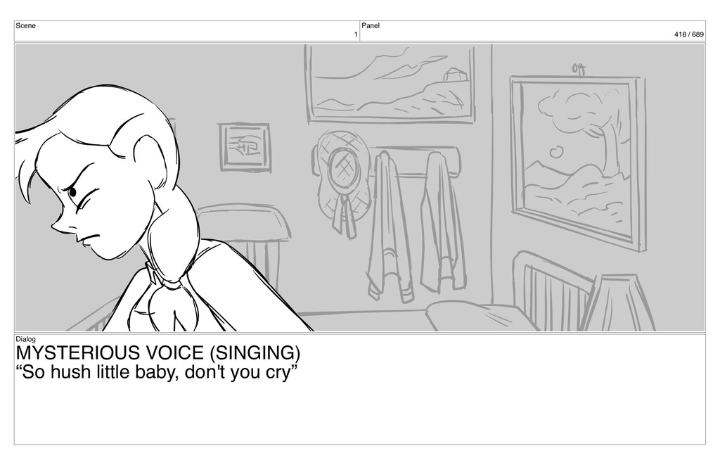 Scene 1 Panel 418 / 689 Dialog MYSTERIOUS VOICE...