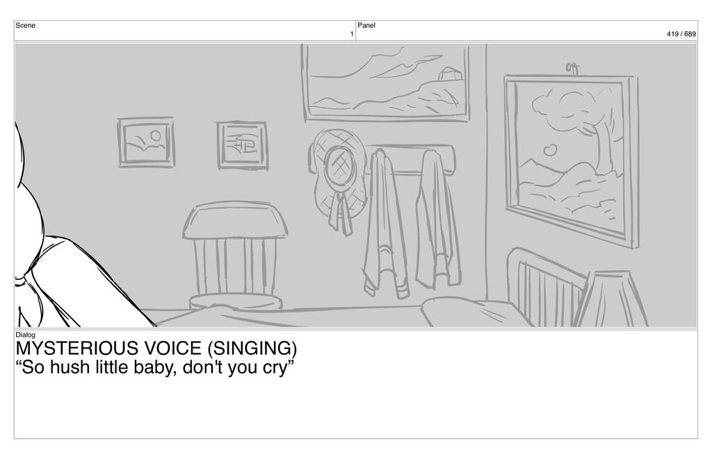 Scene 1 Panel 419 / 689 Dialog MYSTERIOUS VOICE...