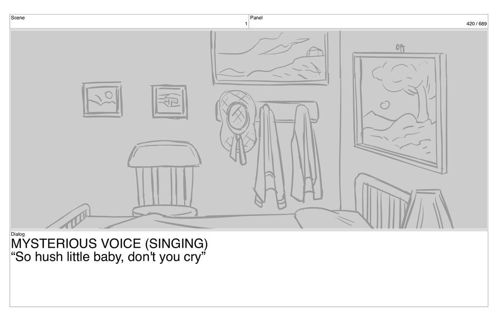 Scene 1 Panel 420 / 689 Dialog MYSTERIOUS VOICE...