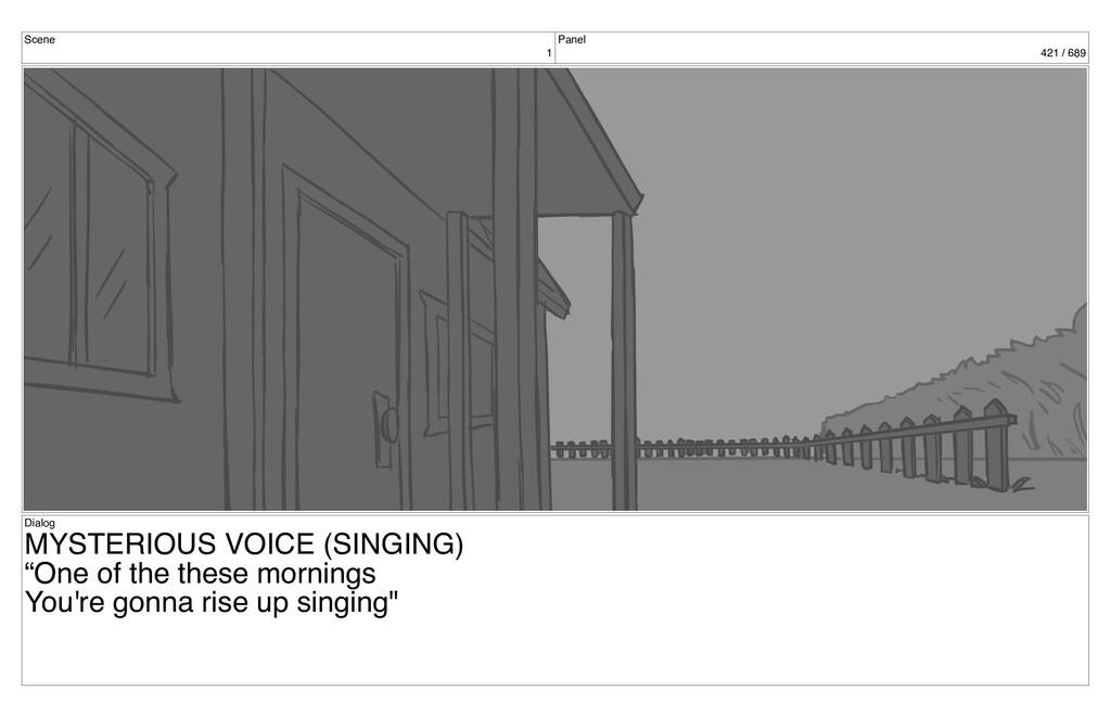 Scene 1 Panel 421 / 689 Dialog MYSTERIOUS VOICE...