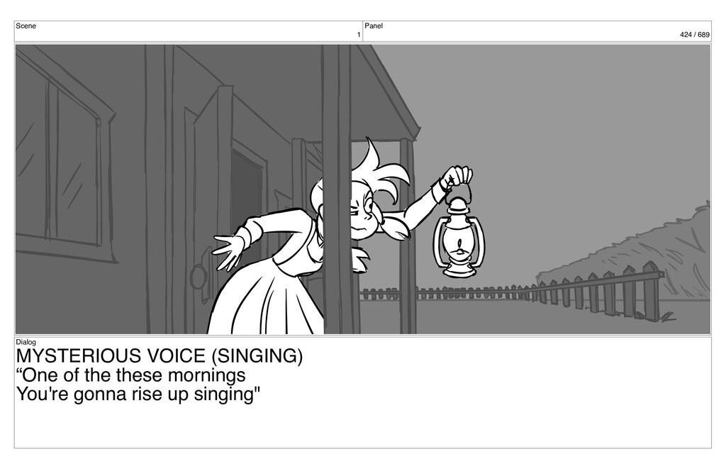 Scene 1 Panel 424 / 689 Dialog MYSTERIOUS VOICE...