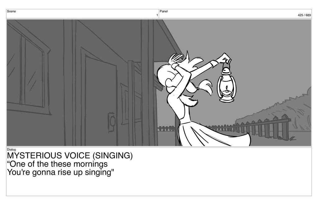 Scene 1 Panel 425 / 689 Dialog MYSTERIOUS VOICE...