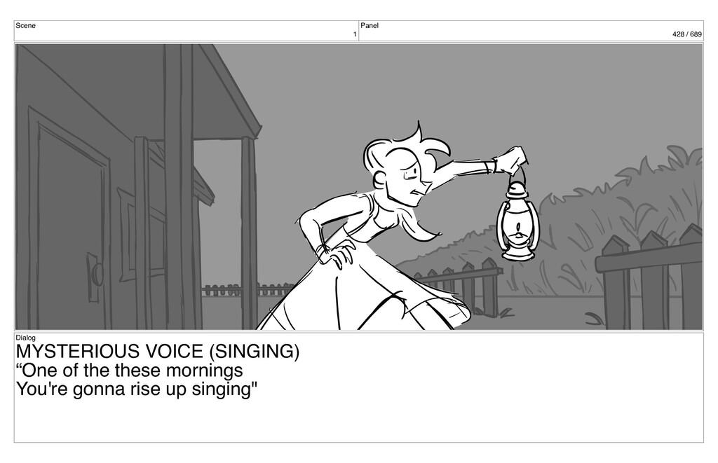 Scene 1 Panel 428 / 689 Dialog MYSTERIOUS VOICE...