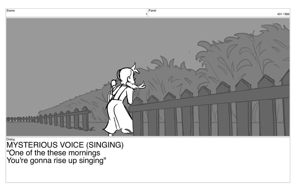 Scene 1 Panel 431 / 689 Dialog MYSTERIOUS VOICE...
