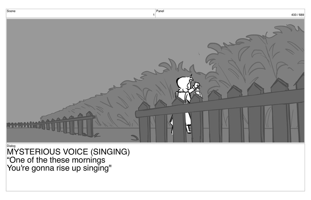 Scene 1 Panel 433 / 689 Dialog MYSTERIOUS VOICE...