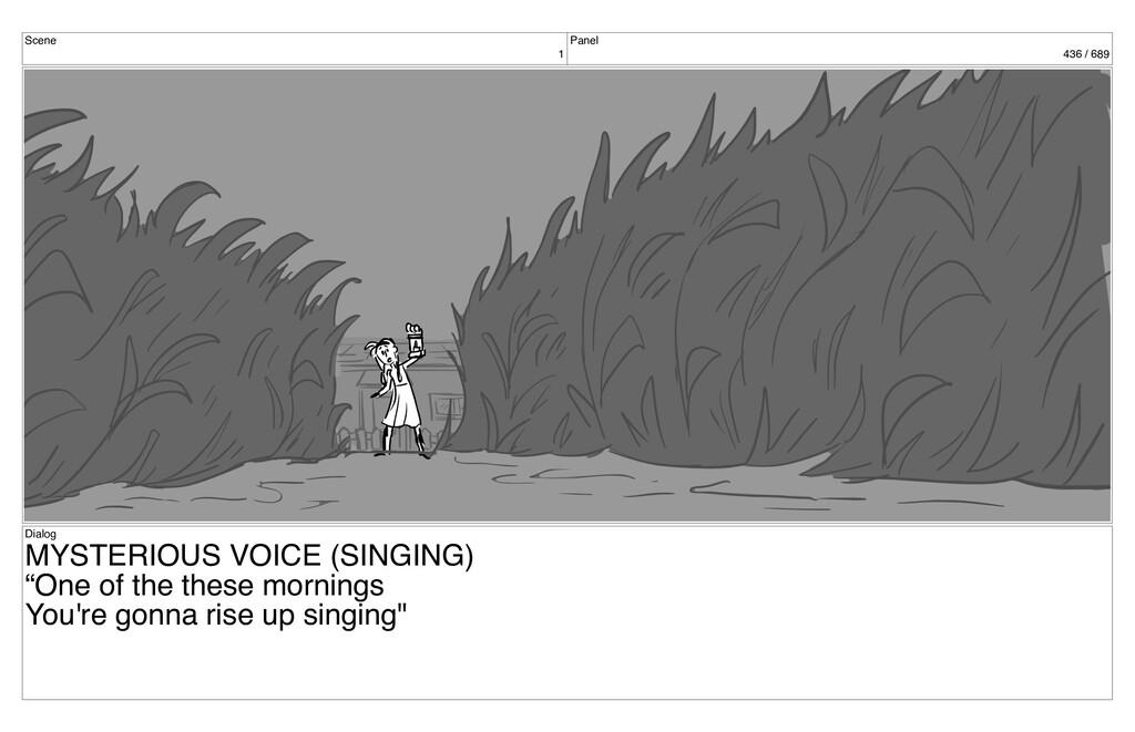 Scene 1 Panel 436 / 689 Dialog MYSTERIOUS VOICE...